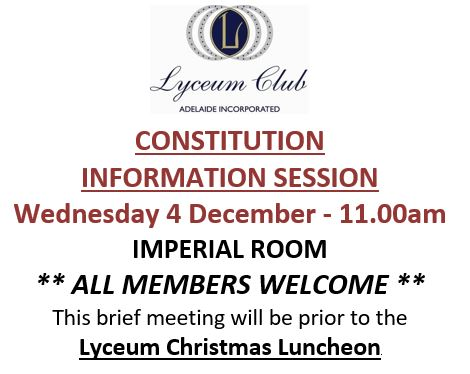 Lyceum Special Meeting Constitution DEC